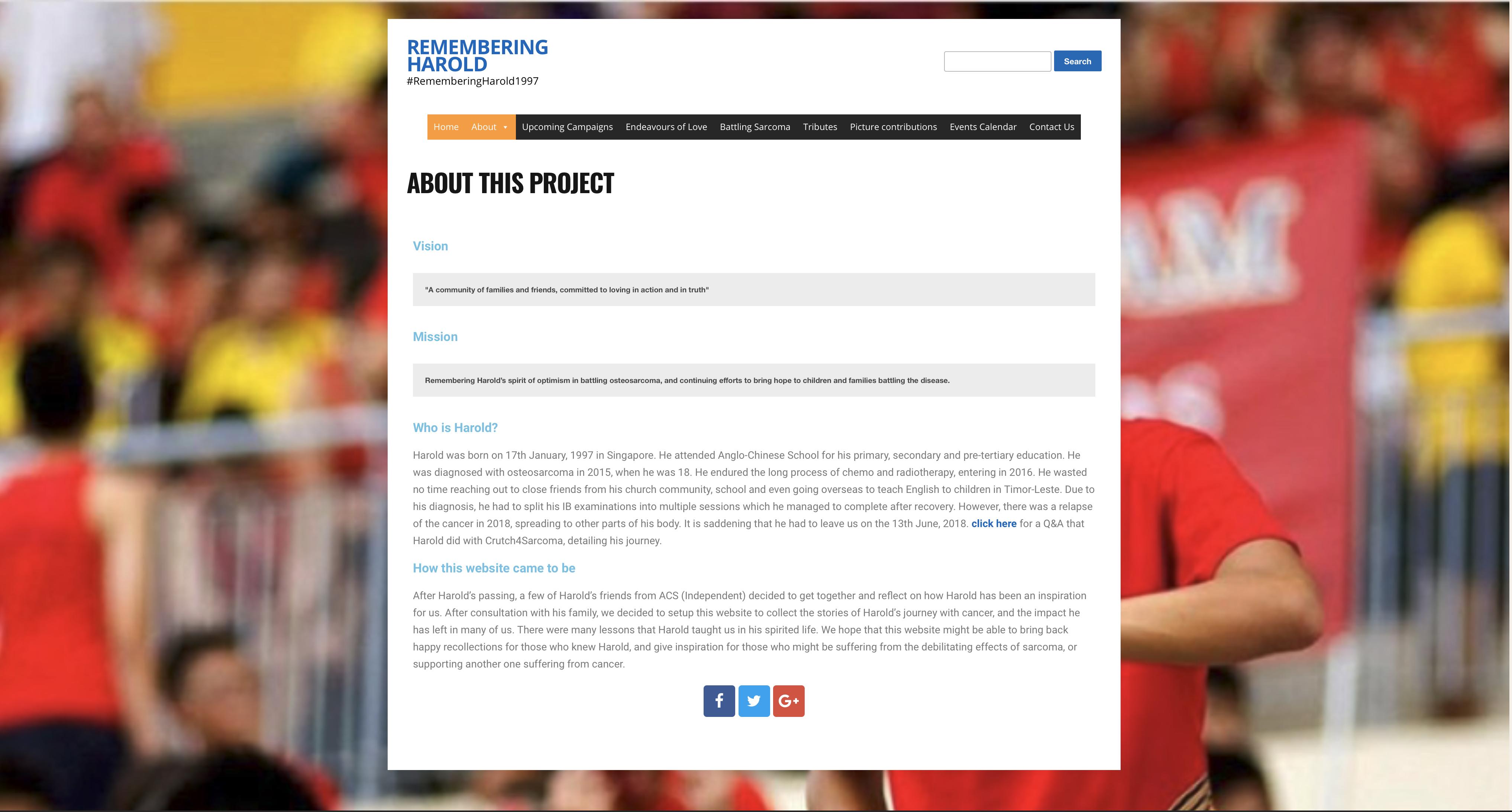 Rememberingharold.org