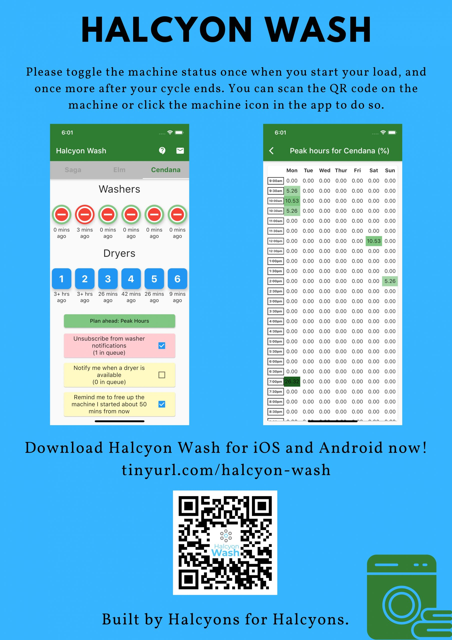 Halcyon Wash Mobile Application